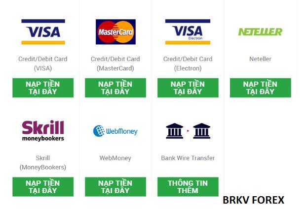 Các ví điện tử có thể rút tiền từ Forex nhanh nhất hiện nay